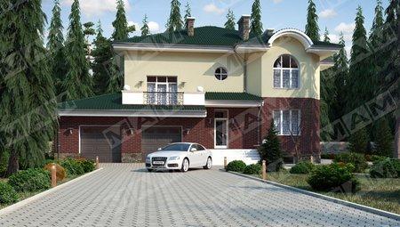 Класичний особняк з цокольним поверхом і гаражем на 2 автомобіля