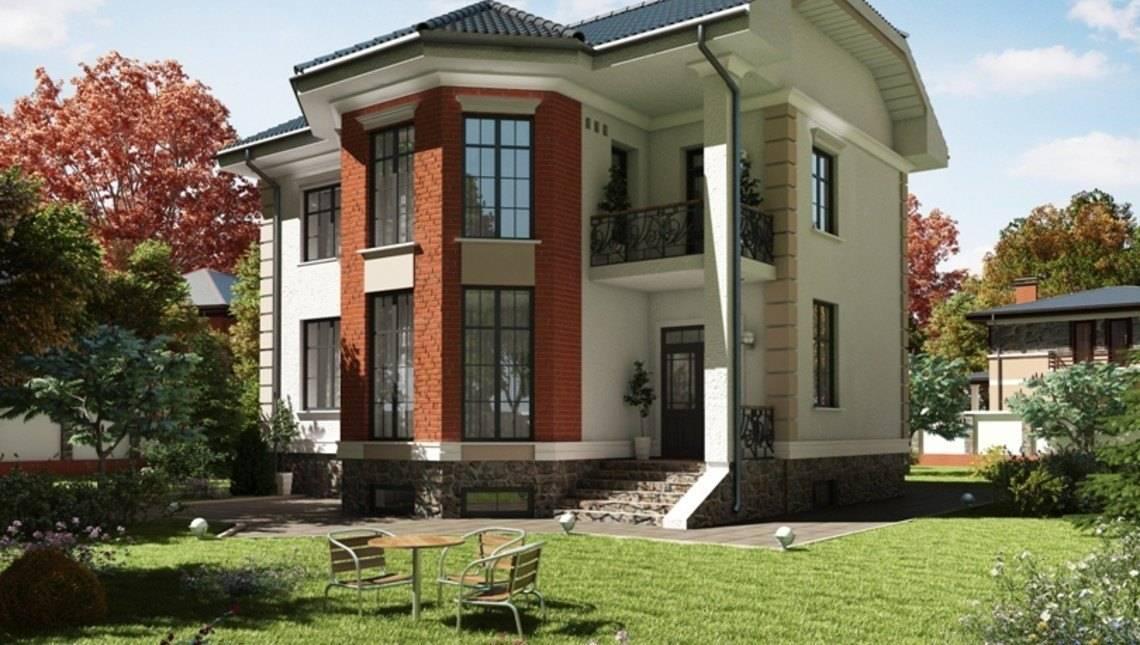 Сучасний проект будинку з цоколем