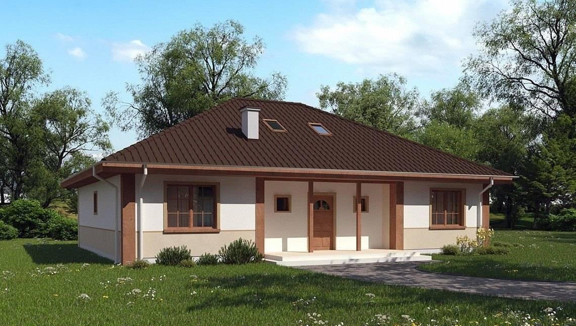 Проект будинку з мансардними вікнами