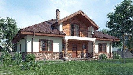 Проект класичного будинку з просторою мансардою