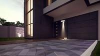 Проект модного двоповерхового котеджу хай тек