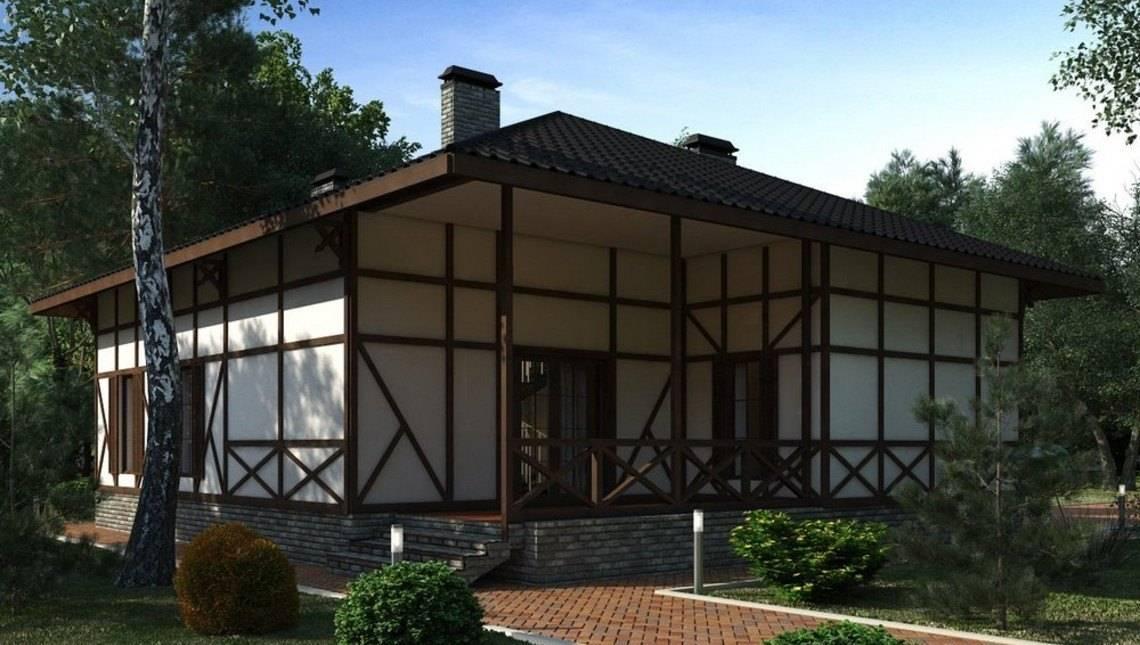 Оригінальний котедж з мансардою в стилі шале
