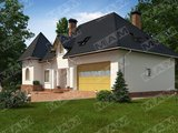 Проект будинку з мансардою в англійському стилі