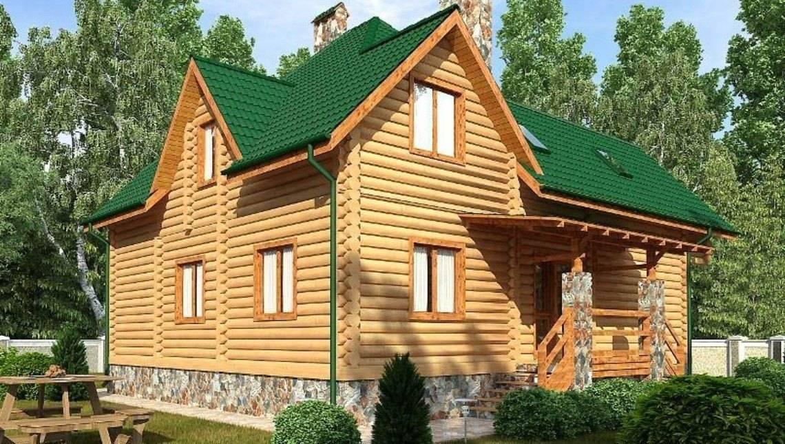 Симпатичний 1,5-поверховий будинок з бруса