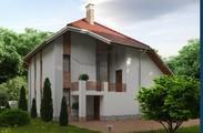 Оригінальний котедж з зручним плануванням і зимовим садом