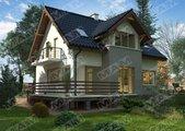 Проект компактного будинку з мансардою і цокольним поверхом