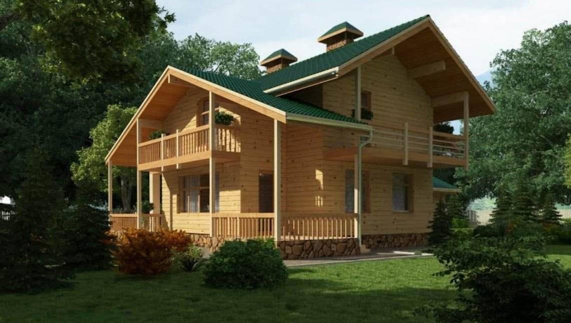 Дерев'яний будинок з мансардою та гаражем