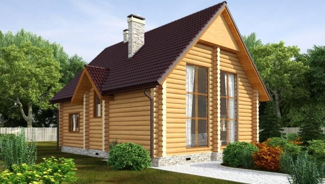 Акуратний дачний будинок із бруса