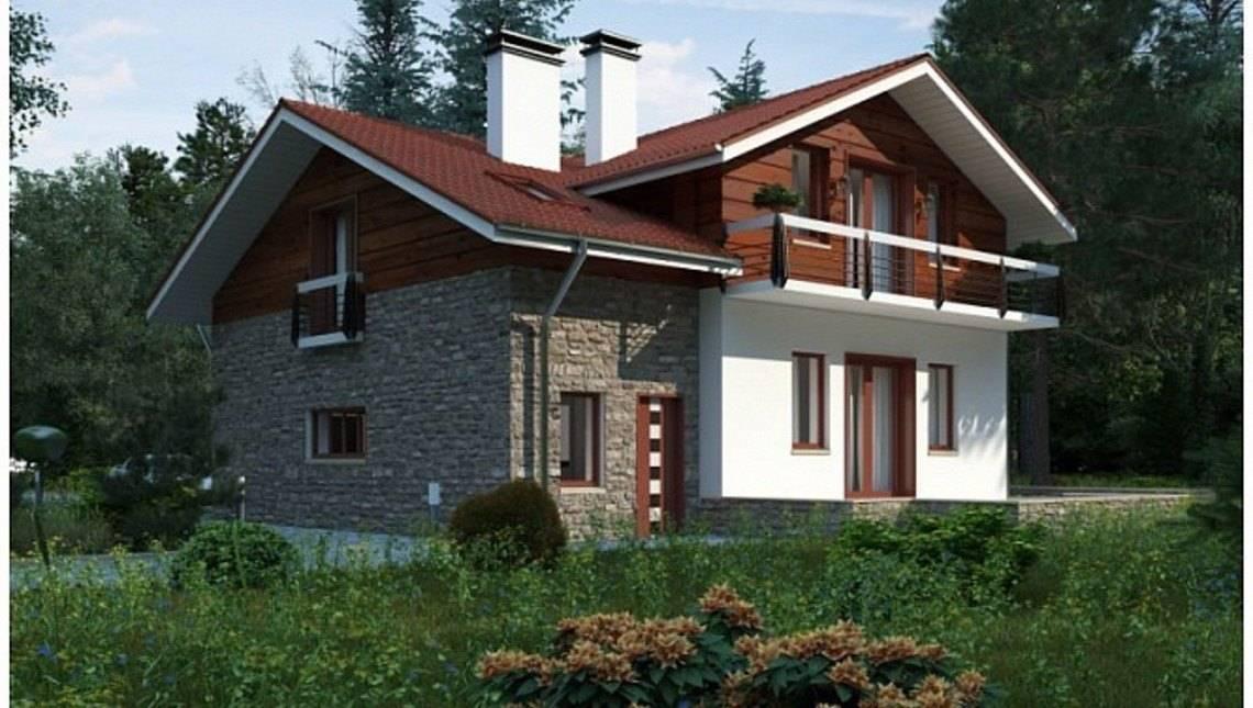 Комфортний котедж з комбінованим фасадом
