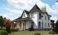 Великий будинок для ділянки зі схилом
