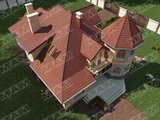 Проект вишуканого будинку з круглою вежею