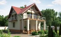 Проект красивого будинку з підвалом для вузької ділянки