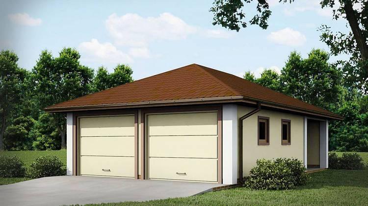 Проект одноповерхового гаража для двох машин