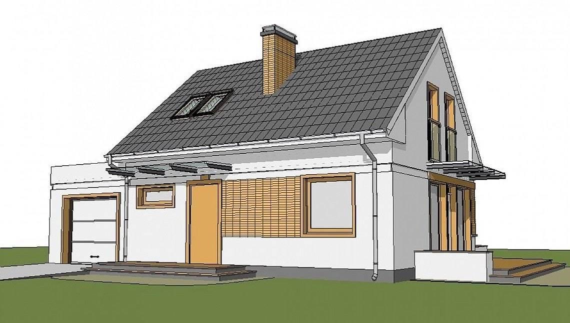 Проект маленького будинку з мансардою і гаражем