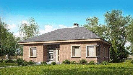 Проект одноповерхового будинку по типу 4M250 з цегляним фасадом