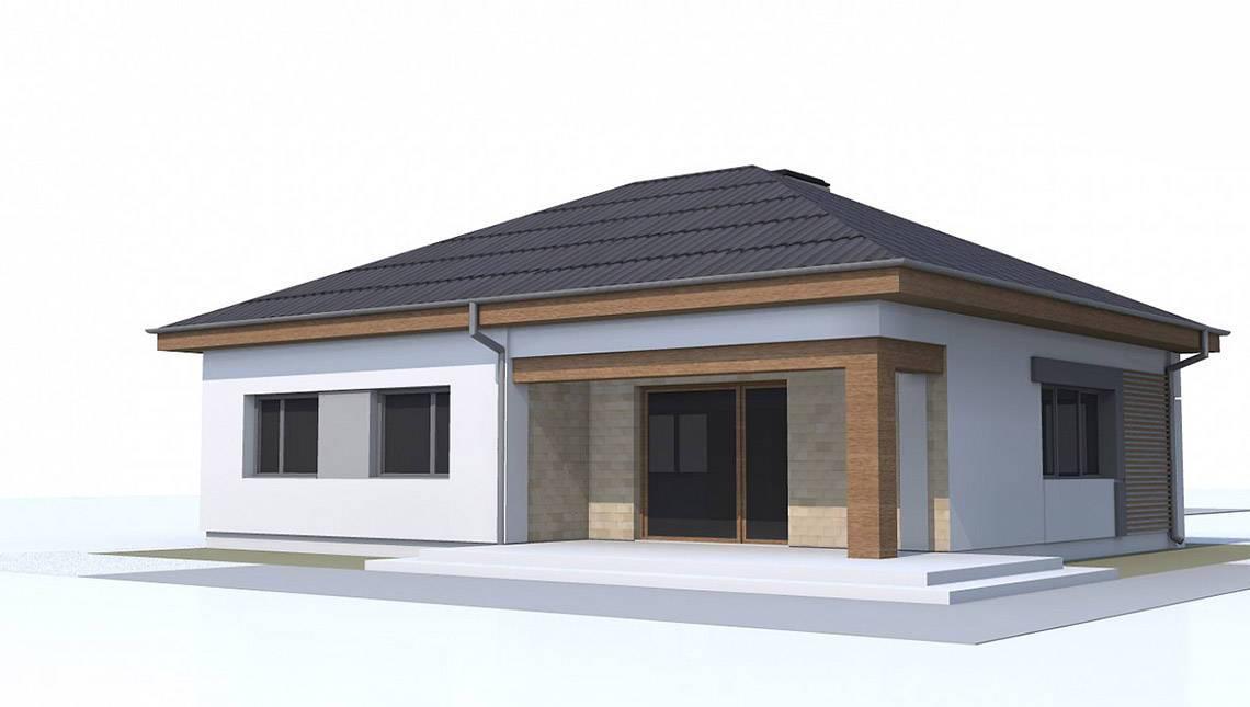 Проект будинку за типом 4M314 зі збільшеною вітальнею