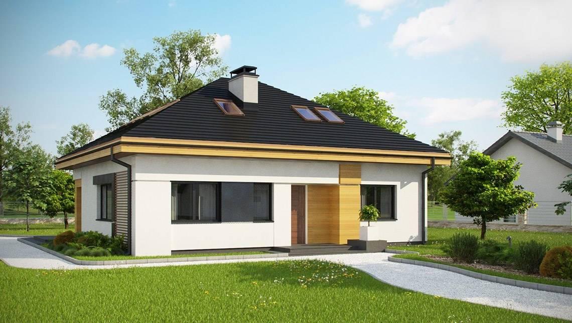 Проект будинку за типом 4M314 з житловою мансардою