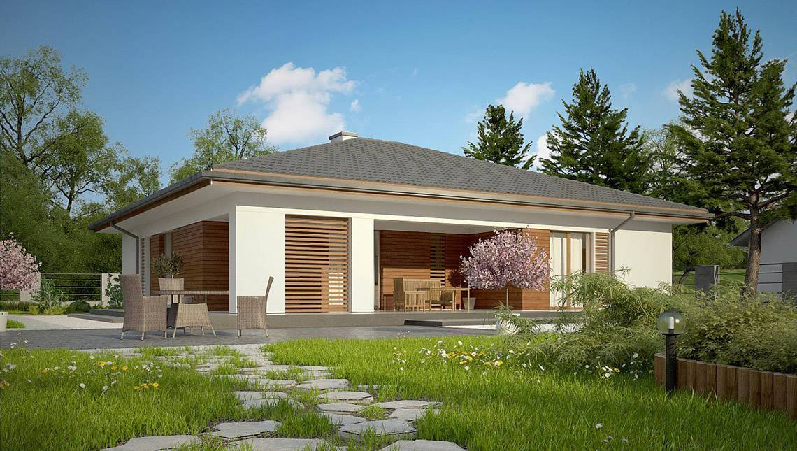 Одноповерховий будинок з шикарною терасою