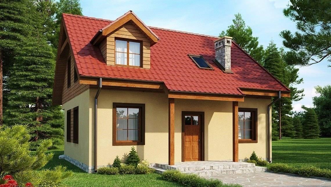 Проект будинку з каміном на терасі