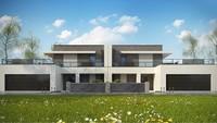 Сучасний стильний будинок на дві сім'ї з шикарними терасами