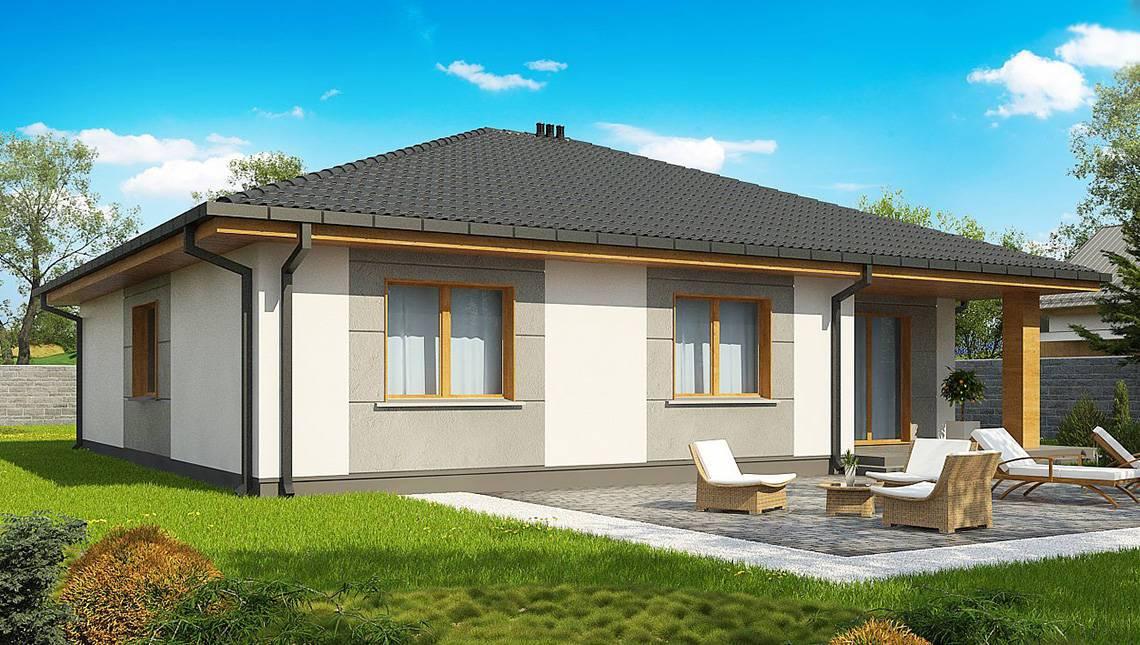 Бюджетний варіант одноповерхового будинку 4M470 без гаража