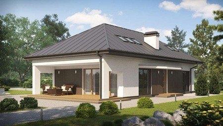 Сучасний проект будинку з мансардою