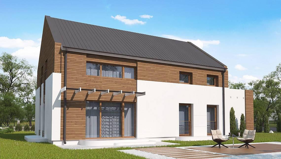 Проект двоповерхового будинку по типу 4M606 з гаражем