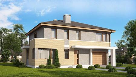 Версія проекту 4M636 з цегляним фасадом