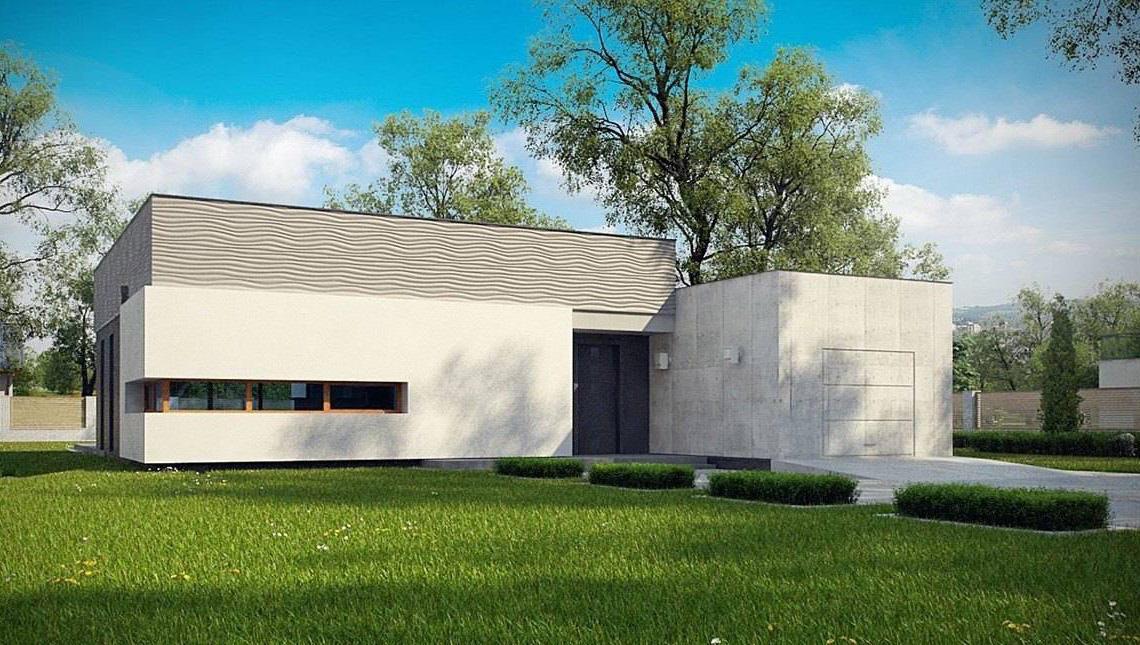 Стильний сучасний одноповерховий будинок