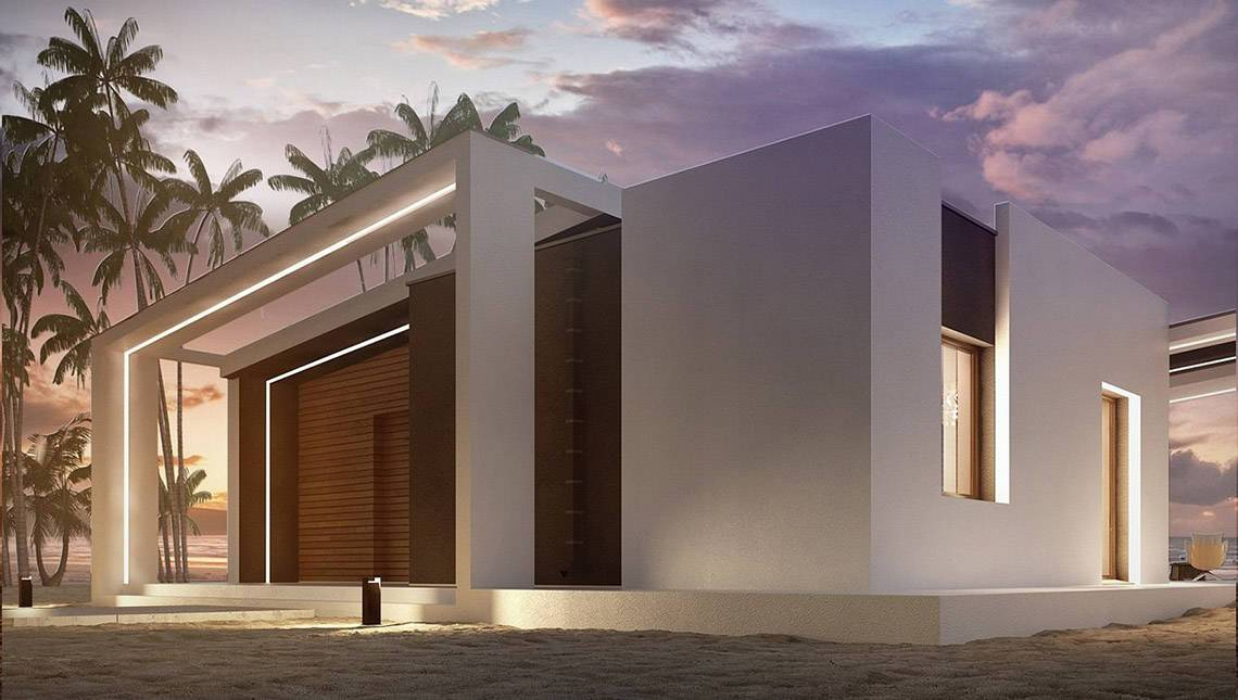 Сучасний будинок з комфортною терасою