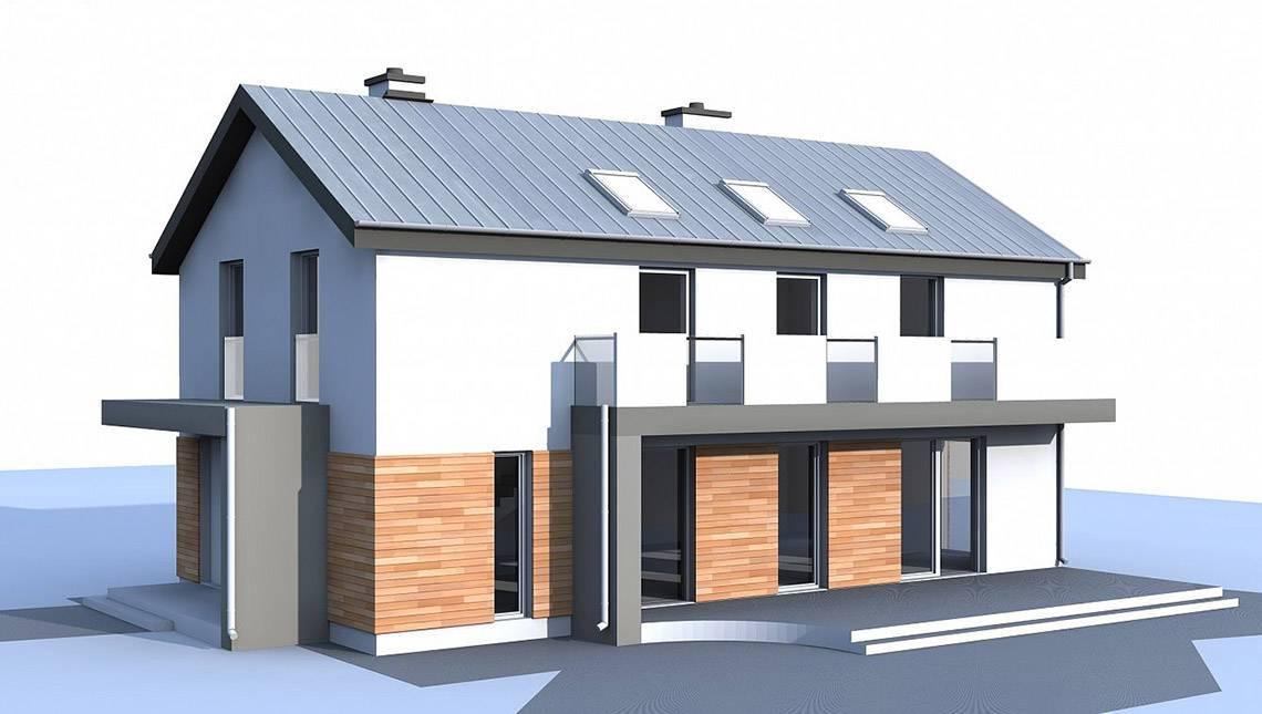 2-х поверховий будинок для вузької ділянки за типом 4M692 без гаража