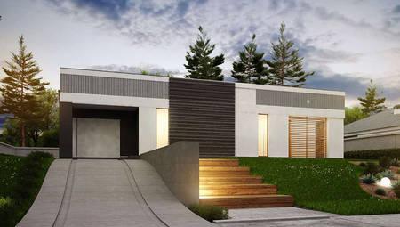 Одноповерховий будинок П-подібної форми