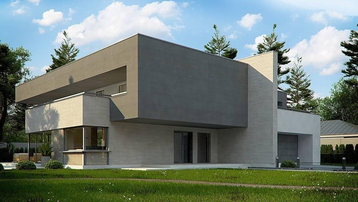 Сучасний будинок в стилі модерн з сауною на другому поверсі