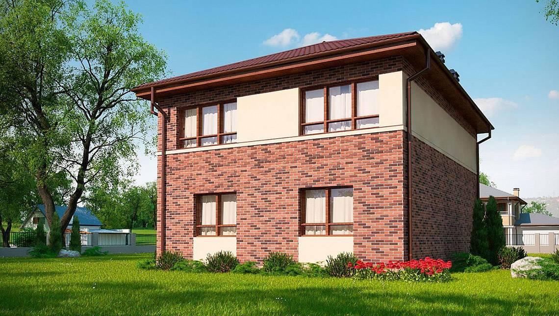 Класичний двоповерховий будинок по типу 4M628 без гаража