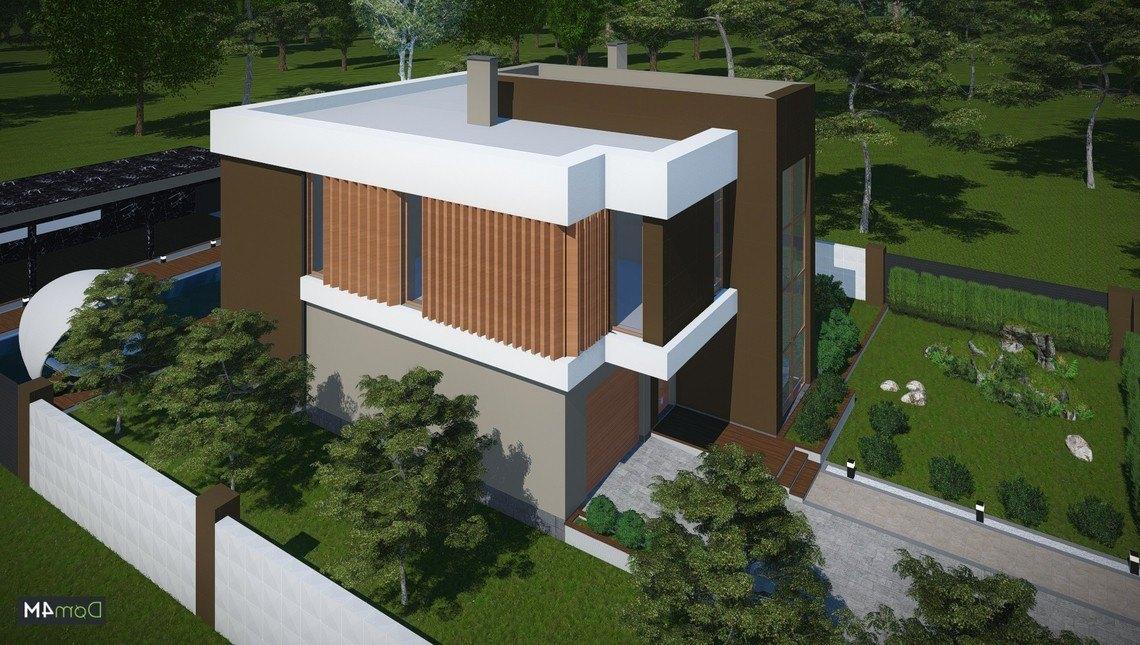 Гарний сучасний котедж в стилі модерн