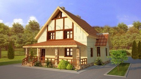 Компактний будинок з мансардою
