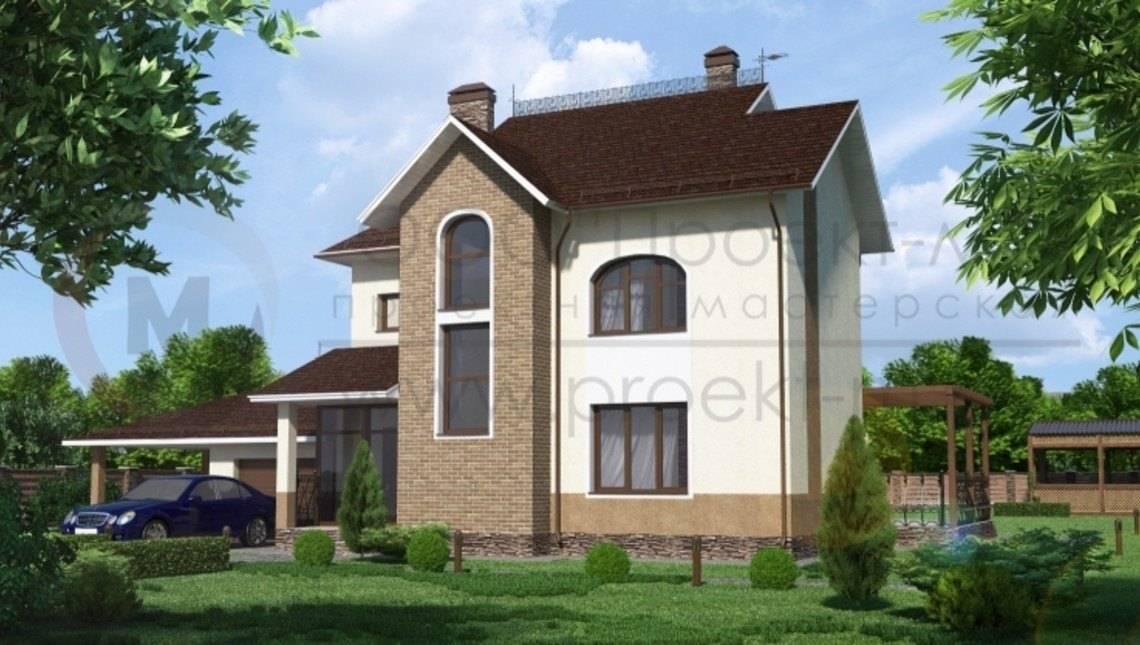 Проект двоповерхового будинку з більярдною в мансарді
