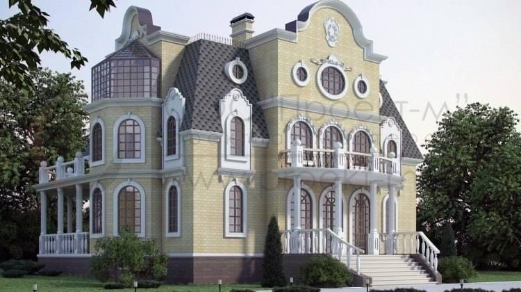 Проект невеликого замку з басейном у цоколі