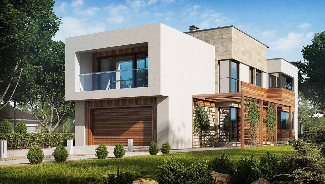 Проект двоповерхового просторого котеджу в сучасному стилі