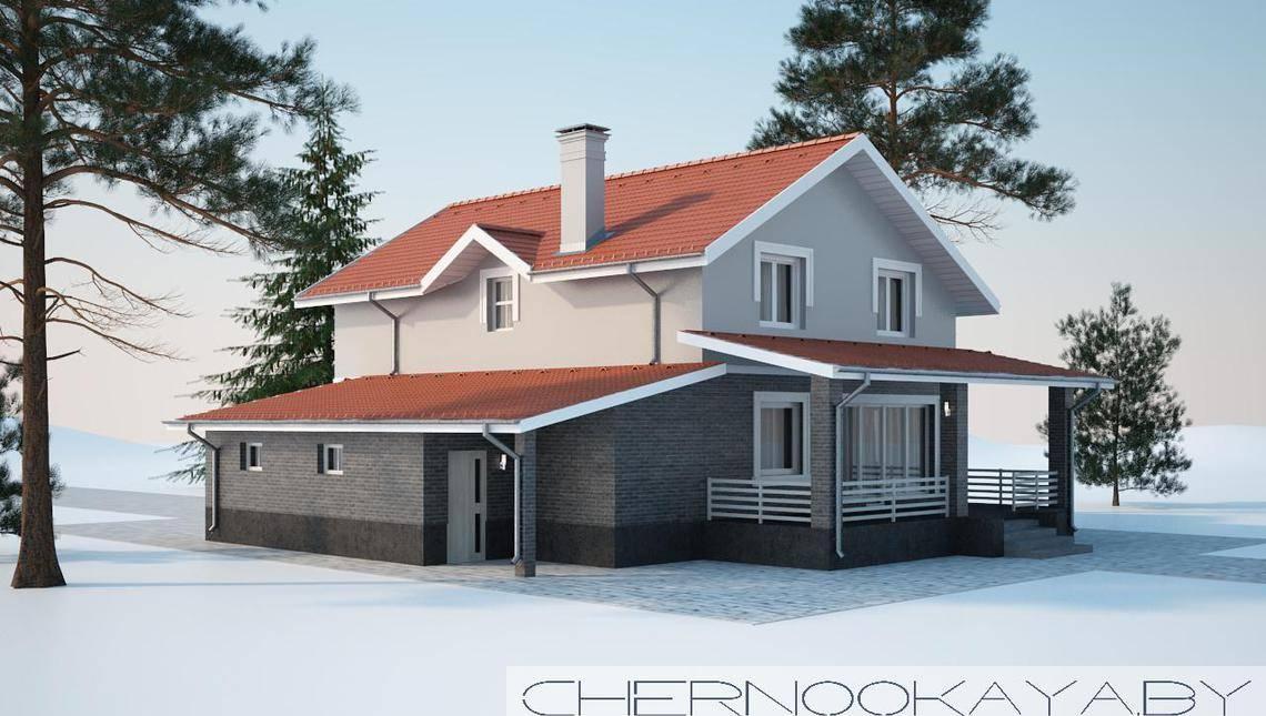 Проект акуратного двоповерхового котеджу площею 200 m²