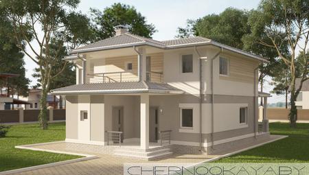 Проект невеликого двоповерхового світлого будинку