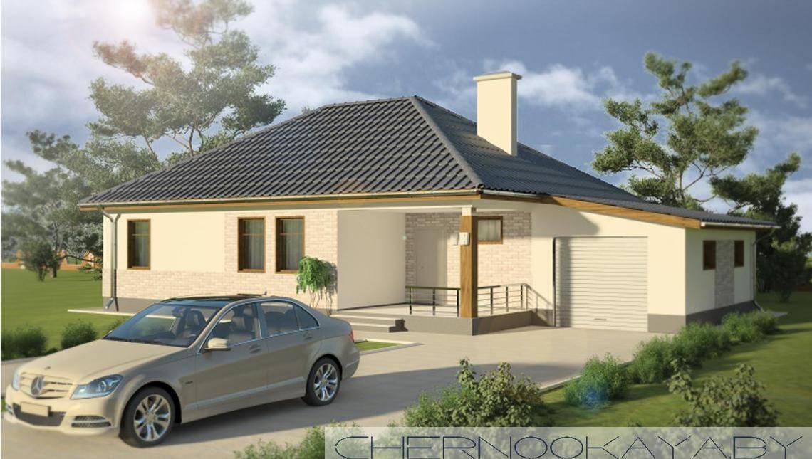 Проект простого заміського будинку 130 м