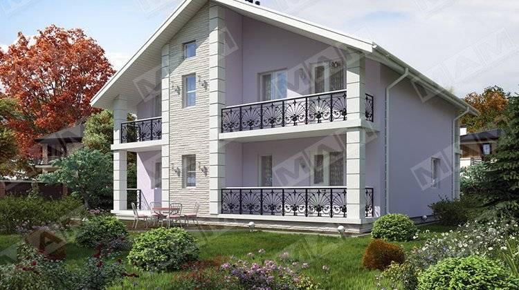 Проект котеджу з балконами площею 240 m²