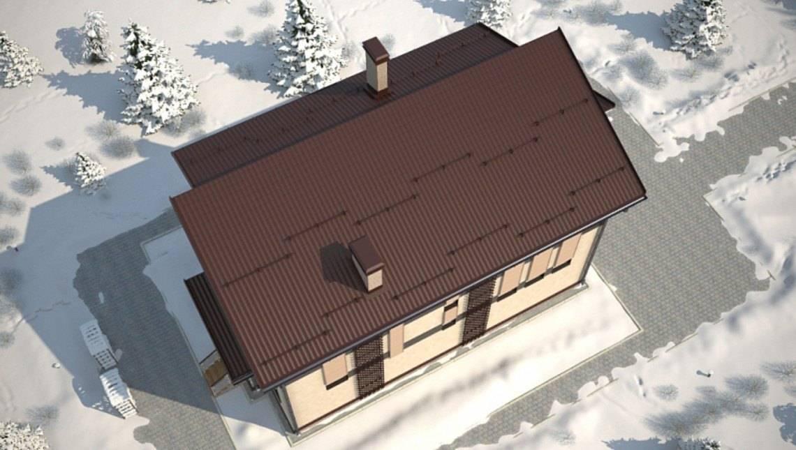 Проект житлового затишного заміського будинку 190 m²