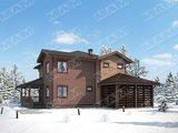 Проект будинку площею 270 m² з дерев'яним фасадом