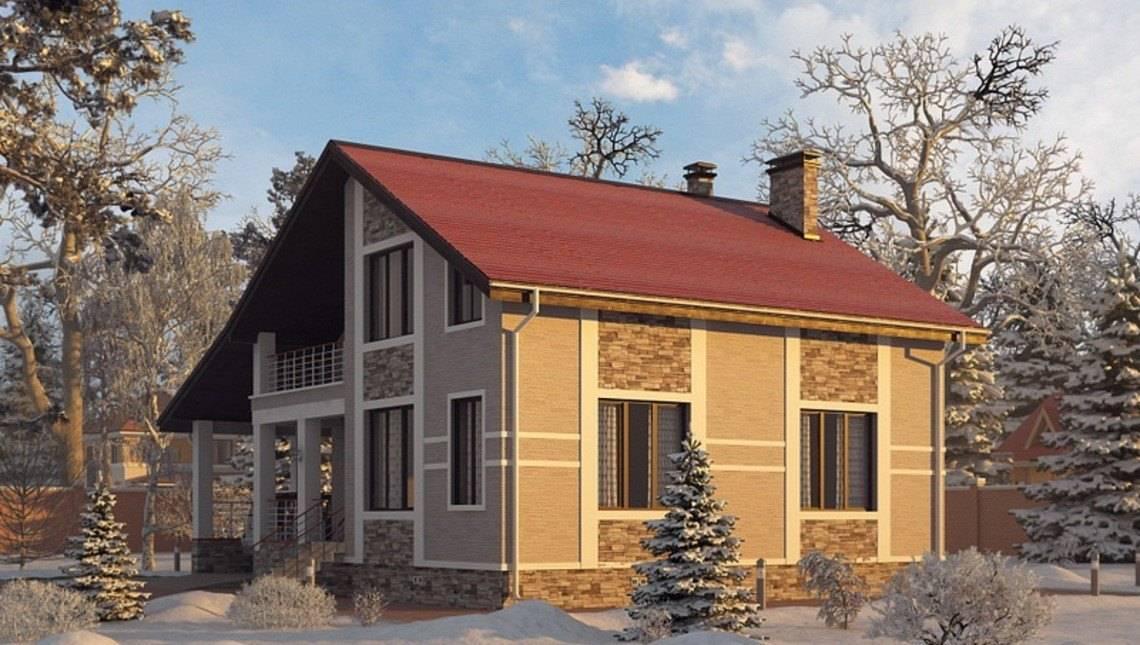 Архітектурний проект особняка з зимовим садом
