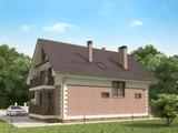Проект мансардного класичного будинку