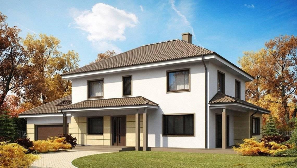Проект двоповерхового будинку з гаражем і тренажерним залом