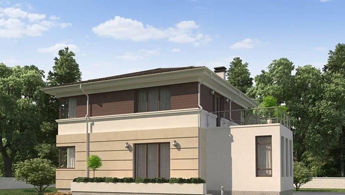 Проект житлового будинку з гаражем для 1 авто і зручною терасою