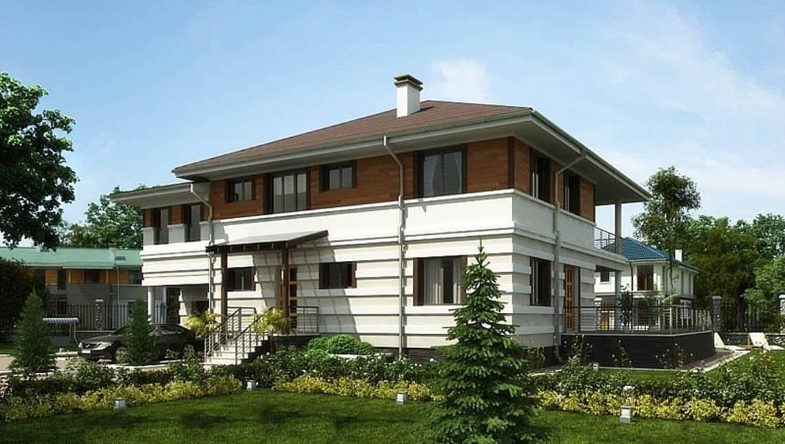 Проект житлового будинку з терасою і зручним плануванням